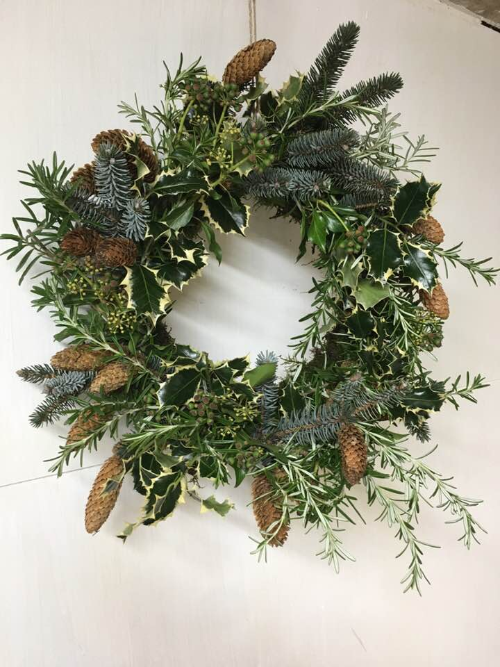 Christmas Holly Wreath Making