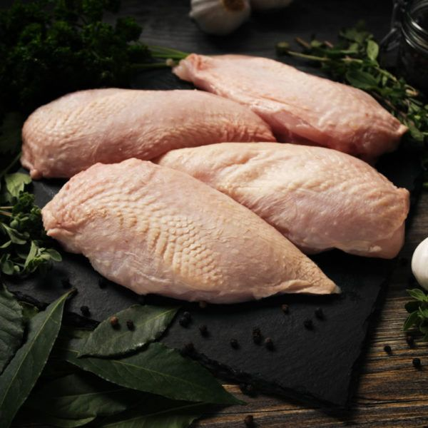 Herb Fed Skinless Chicken Breasts
